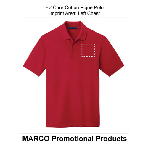 864662f9 EZ Care Cotton Pique Polo - Men's Tall, WE-17055MT -MARCO Promos
