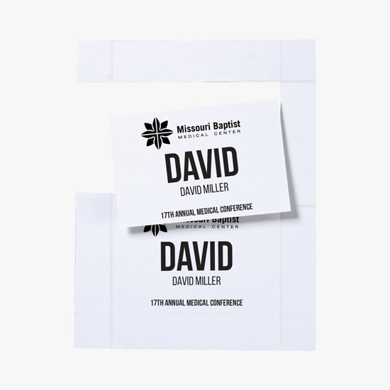 perforated paper inserts for name badge holders 6 x 4 marco