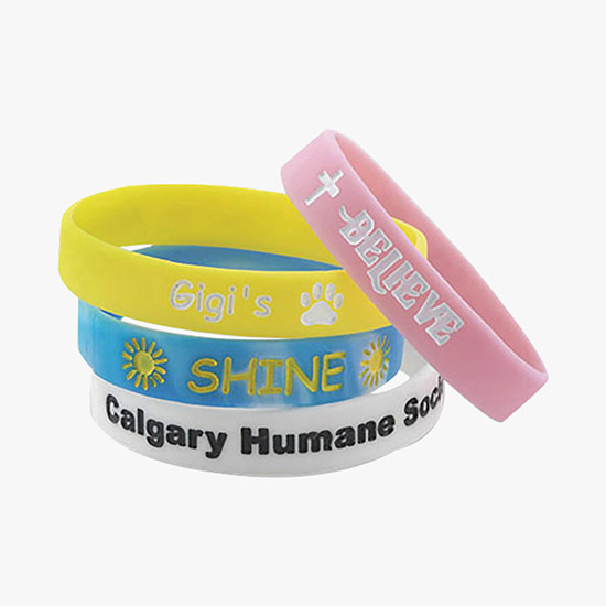 Silicone Awareness Bracelet Debossed Colorfilled Youth Size Wb