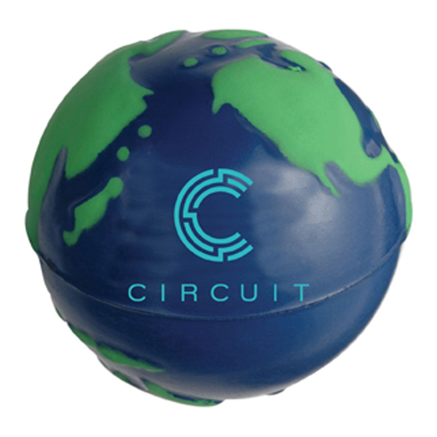 Stressball/Globe Bl/Grn   Blue / Green