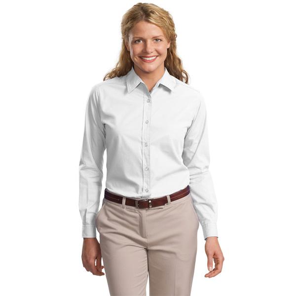 9d063095 CLOSEOUT Port Authority Ladies Long Sleeve Easy Care Soil Resistant Shirt.