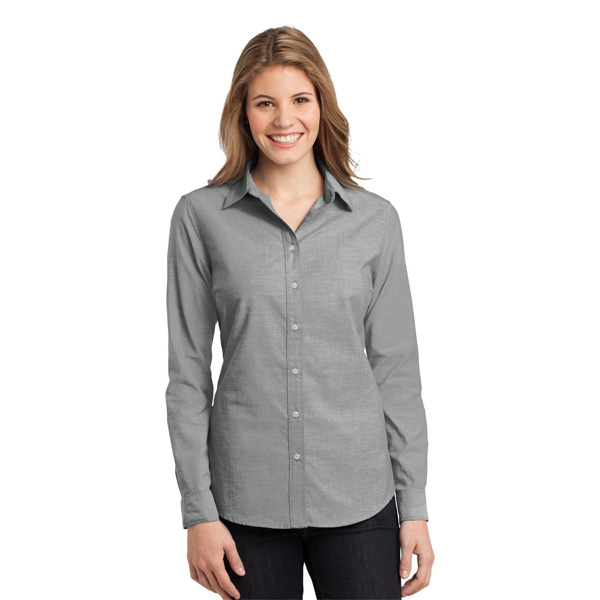 f2ff5458 CLOSEOUT Port Authority Ladies Chambray Shirt.