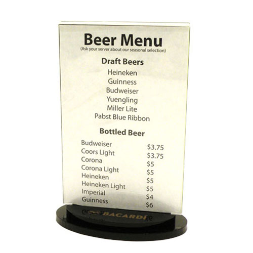 table tent menu holders page undefined